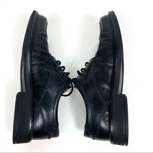 Ecco | Leather Lace Up Moc Toe Dress Shoes